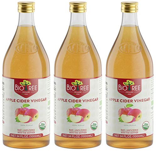 Biotree Organic Raw Apple Cider Vinegar Unfiltered with The Mother 3 x 1L