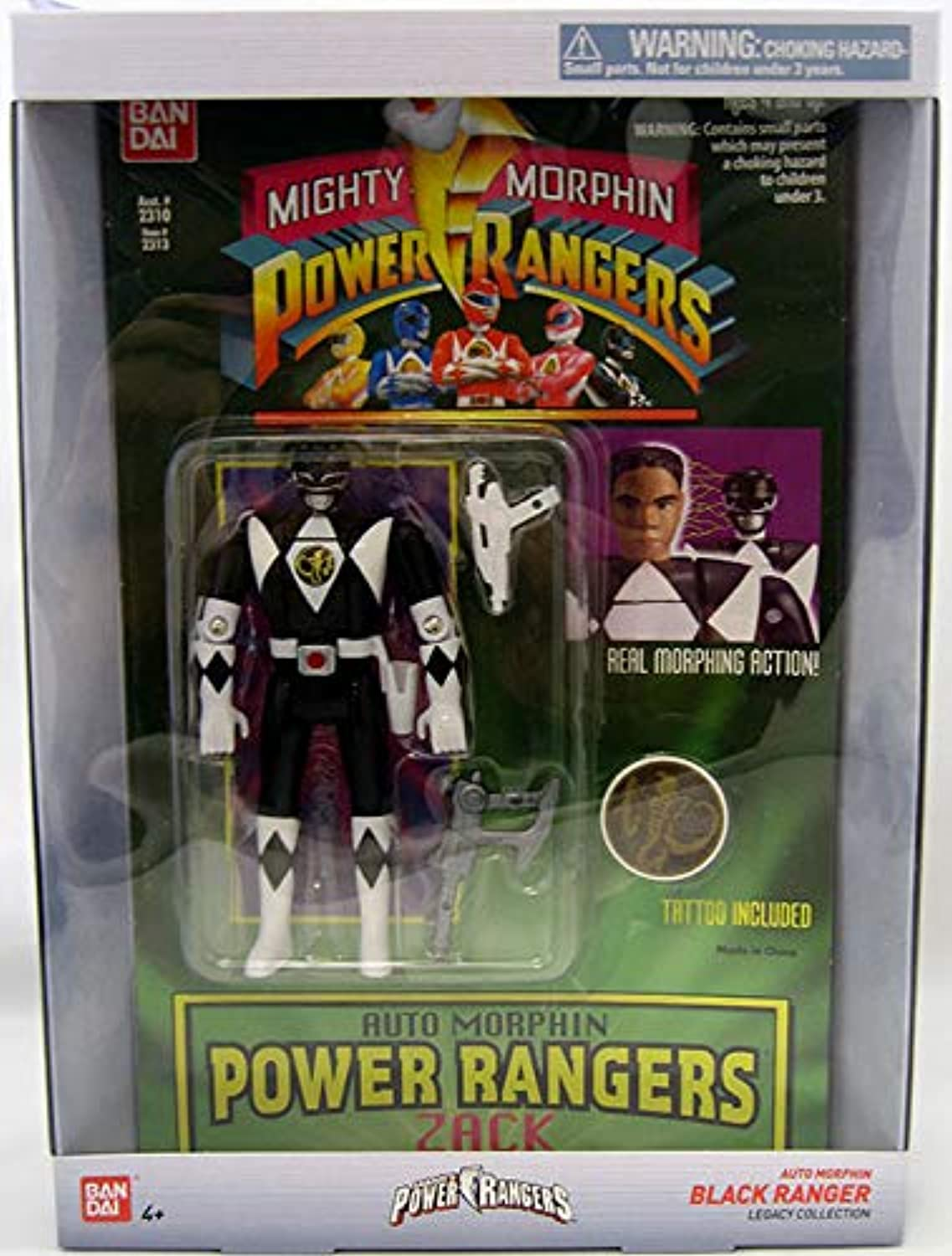 Power Rangers Auto Mighty Morphin Action Figure, Zack