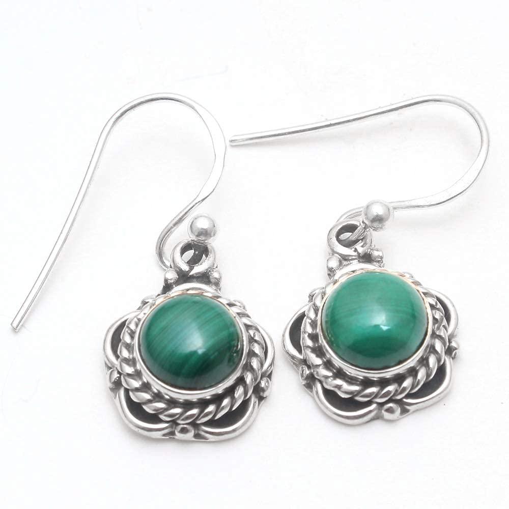 Amazing Malachite Price reduction Gemstone Earring Silver Sterling Denver Mall Handmade 925
