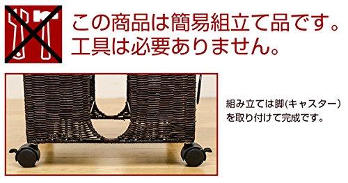 ラタン新聞:雑誌ストッカーアイボリーTMR-10IVキャスター付