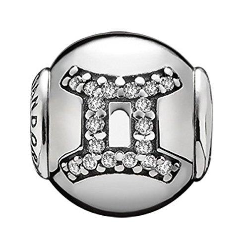 PANDORA para Mujer-Charm 925 Plata Essence Zwilling Blancos - 796036CZ