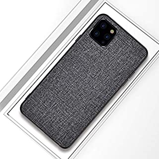 JH Ultra Thin case for iPhone 11 Pro Max with Full Body Shockproof Armor+Cover TPU Canvas+ Comfort Silicon Touch+Anti Sweat+ Anti Finger Print (Gray)