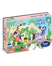 "Dare to Dream 1,000-Piece Puzzle: Flow for Adults Families Picture Quote Mindfulness Game Gift Jigsaw: (Flow) for Adults Families Picture Quote Mindfulness Game Gift Jigsaw 26 3/8"" x 18 7/8"""