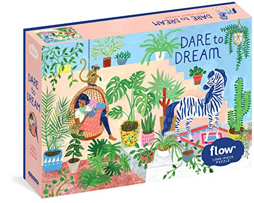 """Dare to Dream: 1,000-piece Puzzle: (Flow) for Adults Families Picture Quote Mindfulness Game Gift Jigsaw 26 3/8"""" x 18 7/8"""""""