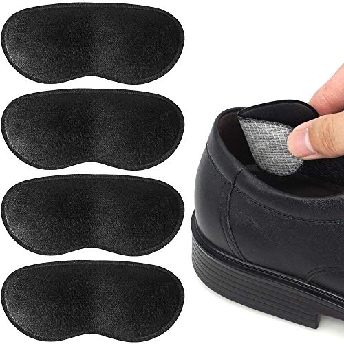 Dr.Foot Heel Grips for Men and Women, Self-Adhesive Heel Cushion Inserts Prevent Heel Slipping, Rubbing, Blisters, Foot Pain, and Improve Shoe Fit- 2pairs+ Extra 1pair (Black)