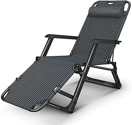 CHLDDHC Silla reclinable Plegable al Aire Libre Tumbona jardín Plegable reclinable Tumbona con cojín y reposacabezas Ajustable,Green-67CM