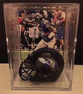 Baltimore Ravens NFL Helmet Shadowbox w/ Steve Smith Sr. card