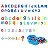 Svance Magnetic Letters Numbers for Toddlers - Alphabet Fridge Magnets Colorful ABC 123 Educational Toys Preschool Learning Spelling Counting Uppercase Lowercase Math Symbols for Kids (69 Pieces)