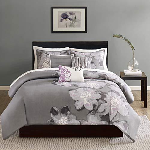 Madison Park 100% Cotton Duvet Set - Classic Traditional Design Cozy All Season Comforter Cover, Matching Shams, Decorative Pillows, King/Cal King(104