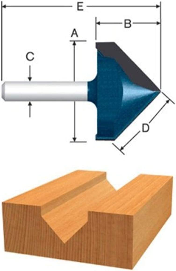 BOSCH Max 64% OFF 85219MC 9 16 In. Portland Mall Carbide Tipped and V-Groove Scoring Route