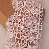 little lane lace stoffa larga 9cm con motivo a corona europea inelastica con ricamo pizzo, per tende, tovaglie, fodere, abiti da sposa fai-da-te/accessori.(4 iarde in ogni confezione) (rosa)