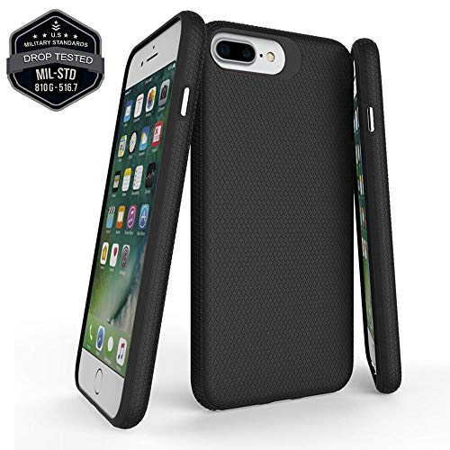 Accessories for iPhone 8 Plus Case,iPhone 7 Plus Case,iPhone 6s Plus Case,iPhone 6 Plus Case,Full Body (Military Grade Drop Protection) Slim Thin Cover Bumper Defender (Black)