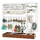 Optyuwah - Soporte para joyas, soporte multifunción para pendientes, soporte de madera, para...