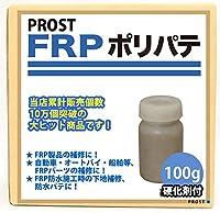 【FRPポリエステルパテ 100g/硬化剤付】 下地凹凸/平滑用/FRP補修/ポリパテ