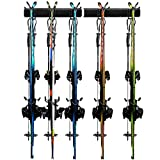 Odoland Ski Rack, 5 Pairs of Ski Snowboard Rack Wall Mount,...
