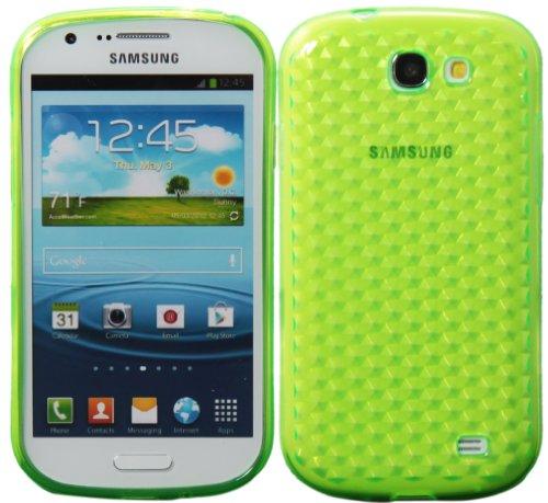 Luxburg® Diamond Design custodia Cover per Samsung Galaxy Express GT-I8730 colore verde smeraldo, custodia in silicone TPU