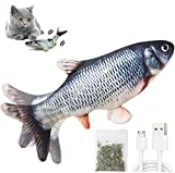 Katzenspielzeug Elektrisch Fischs,interaktives zappelnder fisch Spielzeug für...