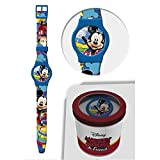 Star Licensing Orologio Topolino Mickey Mouse Disney da Polso ANALOGICO CONF. CM 24 - 50581CELESTE