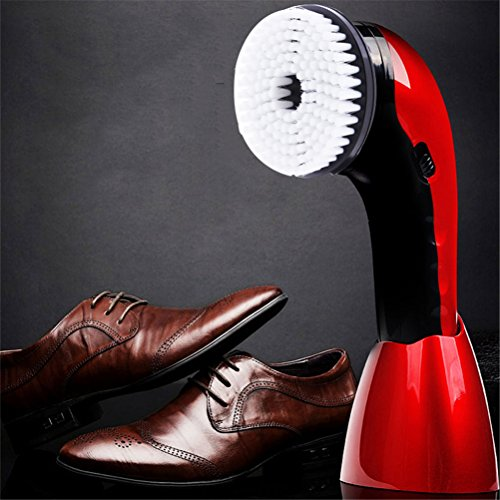 Dbtxwd Schuh-Poliermaschine, Elektrische Tragbare Schuh-Glanz-Handmaschine Für Ledernes Sofa, Autositz-Reinigungs-Bürste