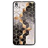 Hülle kompatibel mit HTC Desire 816 Handyhülle Case Elisabeth Fredriksson Würfel Muster