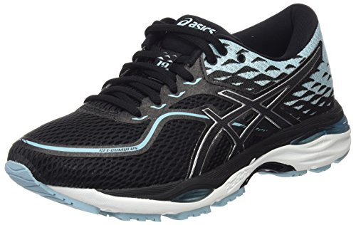 ASICS Women's Gel-Cumulus 19 Competition Running Shoes, Black (Black/Porcelain Blue/White 9014), 4 UK
