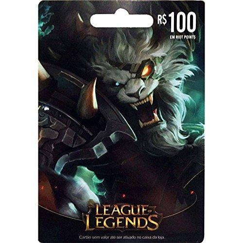 Cartão League of Legends R$ 100 Reais