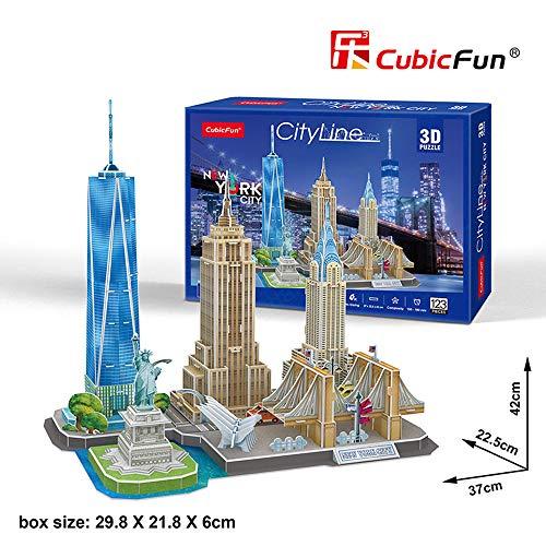 Tachan Puzzle 3D Line New York City (Cubic Fun MC255h)