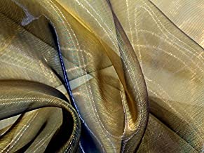 Minerva Crafts Two Tone Sheer Organza Dress Fabric Gold Black - per metre