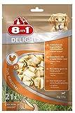 8in1 Delights Chicken XS Ossi Masticabili al Gusto di Pollo, per la Pulizia dei Denti dei Cani di Taglia Piccola - 21 Pezzi