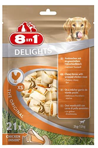 8In1 Delights Chicken Kauwbot Xs, Gezonde Koekjes Voor Zeer Kleine Honden, 21 Stuks (252 G)