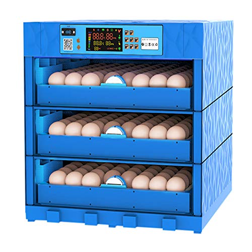 AQAWAS Egg Incubator with Humidity Control, Poultry Hatcher with Automatic Egg Turning, Multifunction, Air Incubator Portable, for Chickens Ducks Goose Birds,Blue_192 Eggs