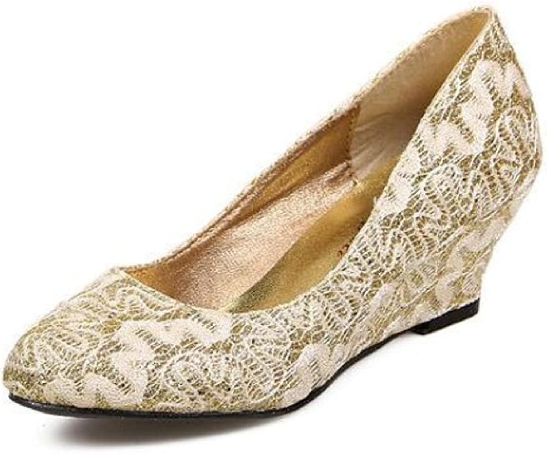 SUNNY Store Women High Heel Pumps Closed Toe Rhinestones Satin Evening Prom Wedding Wedges