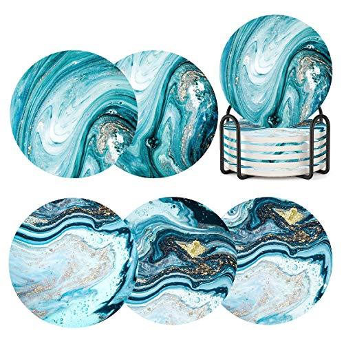Abstract Ocean Ceramic Coasters