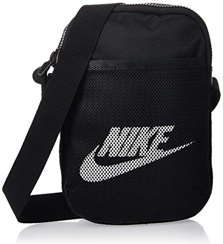 Nike Unisex Heritage Small Items Crossbody-Tasche, Black/Black/White, One Size