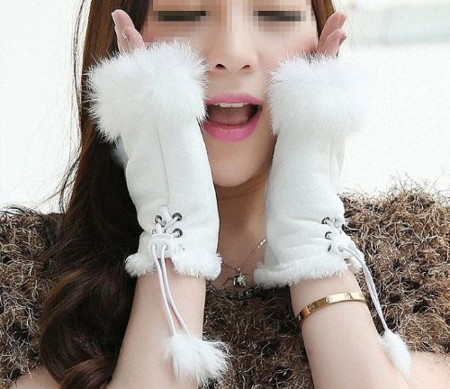 EUBUY Cool Women Winter Warmer Knitted Fingerless Gloves Hand Wrist Warmer