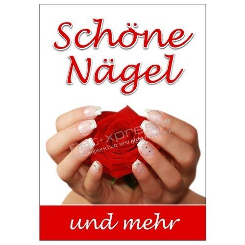 net-xpress Werbeplakat für schöne Fingernägel DIN A1, Plakat Poster Nagelstudio