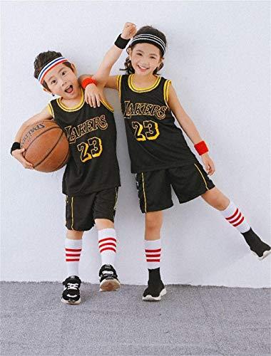 Sport Kids Bambini NBA Jersey Set - Bulls Jordan # 23 / Lakers James # 23 / Warriors Curry # Costumi da Allenamento Ricamo da Baseball Ragazzi E Ragazze
