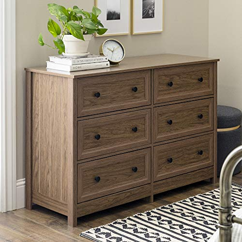 Check Out This Walker Edison Furniture Company 6 Drawer Wide Double Chested Dresser, 47 Inch, Dark W...