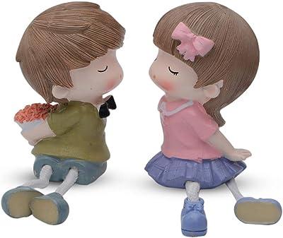 Store2508® Latku Romantic Bouquet Polyresin Hanging Legs Showpiece (Pair)
