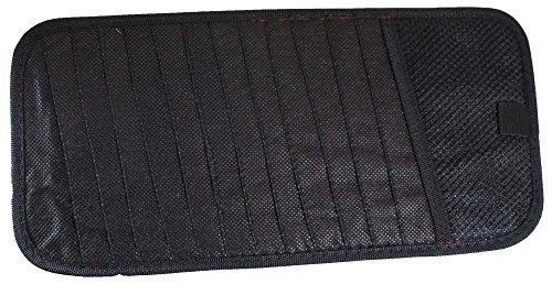 HAWK 12.75 X 6' Flat, Black 12-Disc Holder For Your Car Visor - CD45