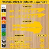 Adesivi Bici Kona Supreme Operator_Kit 5_ Kit Adesivi Stickers 10 Pezzi -Scegli SUBITO Colore- Bike Cycle pegatina cod.0872 (021 Giallo)