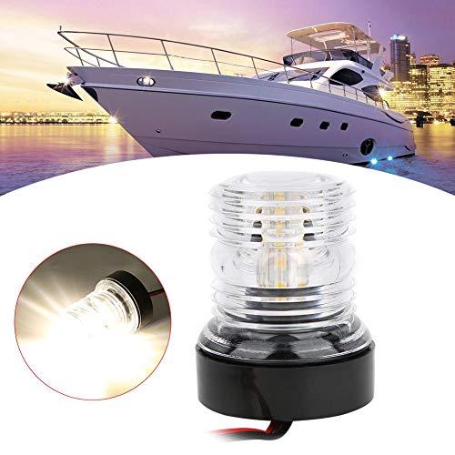 Akozon LED Signal Light 360 Degrees IP66 Protection 5W Sailing Signal Light Marine Navigation Anchor Light for Yacht Boat DC 12V-24V