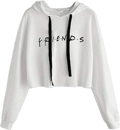 Sudadera Friends Mujer Serie con Capucha Casual Pullover Hip Hop Danza Camisetas Mejores Amigas Manga Larga Encapuchado Otoño Invierno Primavera para ...