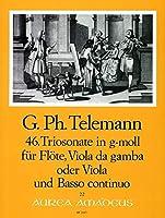 TELEMANN - Trio Sonata en Sol menor (TWV:42/g 7) para Flauta, Viola y Piano (Partitura/Partes) (Pauler