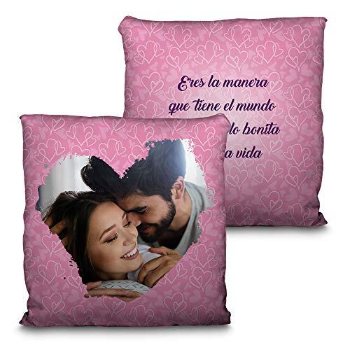 LolaPix Cojin Personalizado San Valentin con Foto. Regalos San Valenti
