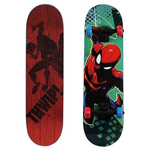 "PlayWheels Ultimate Spider-Man 28"" Skateboard, THWIP, Blue (166438)"