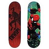 PlayWheels Ultimate Spider-Man 28' Complete Kids Trick Skateboard, Red