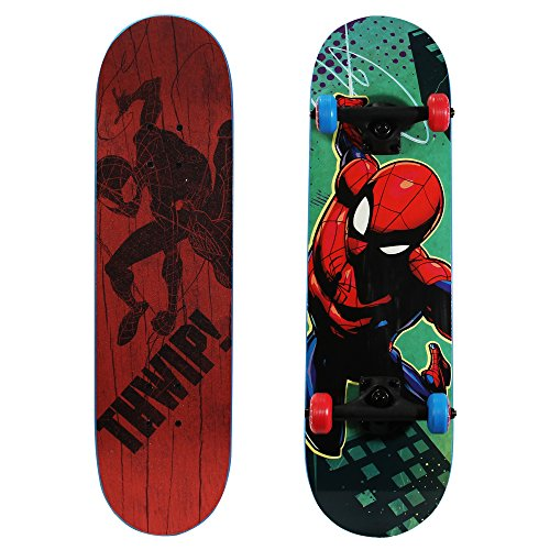 "PlayWheels Ultimate Spider-Man 28"" Skateboard, THWIP, Blue (166438)"