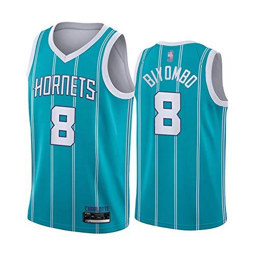 Jersey Deportivo Para Hombres, Charlotte Hornets # 8 Marsmar-Biyombo NBA Basketball Jersey, Fans De Baloncesto Edición Malla Sin Mangas Vestir Chaleco Vestido De Cuello,Light blue,M(170~175cm)