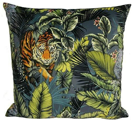 Maple Textile BENGAL AMAZON JUNGLE SAFARI TIGER LARGE VELVET 24' x 24' CUSHION COVER £18.65 EACH